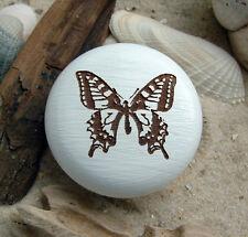 Möbelknopf Schmetterling Holzknauf graviert Buche