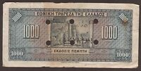 "1926/04/11 1000 DRACHMAS NOTE PRINTED BY A.B.C. CACHET ""VOLOS"""