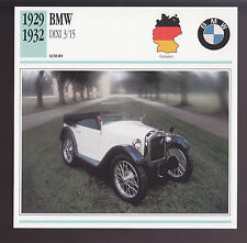 1929-1932 BMW Dixi 3/15 First Beamer Car Photo Spec Sheet Info CARD 1930 1931