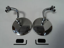 "4"" STAINLESS PAIR OF UNIVERSAL PEEP MIRRORS DOOR EDGE CHROME DRIP RAIL HDWR INC"