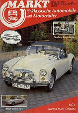 Oldtimer Markt 1987 3/87 MGA 12M P4 15M P6 BMW 2000 CS Zündapp Combinette RT175