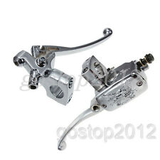 "1"" Chrome Brake Master Cylinder Clutch Lever For Harley Honda Suzuki Kawasaki"