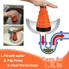 Clog Cannon Air Power Drain Blaster Manual Toilet Kitchen Plunger Sink Cleaner X