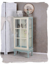 Shabby Chic Cabinet Glass Display Flowers Shelf Rack Antique Style Wardrobe NEW