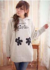 Ladies breastfeeding nursing jumper pullover hoodies - Light Grey L to fit UK 10