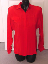 ViNtAgE 1970s Red 100% SILK $260 TAHARI Ladies Blouse Top- 6- Small Excellent