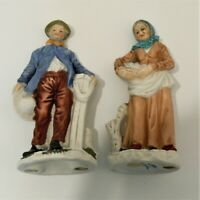 Man and Woman Porcelain Statue Figurine by ARDCO Fine Quality Dallas C-3895 EUC