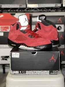 New Nike Air Jordan 5 V Retro Red Suede Sz 9 Raging Bull CUSTOM 136027-602