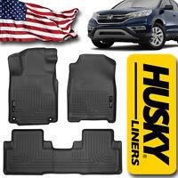 Husky Liners 2012-2014 Honda CR-V Front & Rear Floor Mat Set Black 98451 CRV