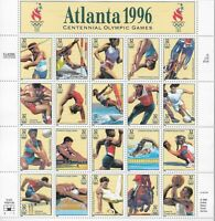 1996 Atlanta Centennial Olympic Games Souvenir Stamp Sheet Scott 3068 MNH