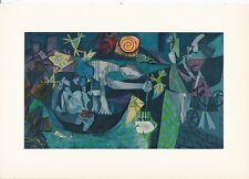 "1955 Vintage ""NIGHT FISHING at ANTIBES"" PICASSO Color Plate offset Lithograph"