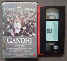 VHS FILM Ita Storico GANDHI 1985 columbia attenborough ex nolo no dvd(VH46)