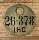 OH Ohio Springfield Clark County IHC International Harvester Co Brass Tool Check
