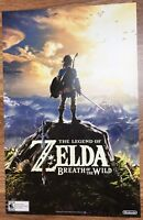 "Zelda: Breath of the Wild - Double-Sided Poster Gamestop Promo RARE 11"" x 17"""