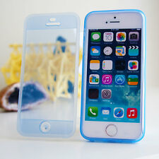 Tpu Silicona Gel Pareo Flip Cover parachoques clara caso para Iphone 4 4s 5 5s 5c