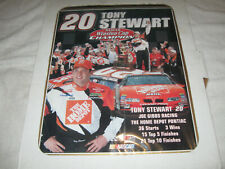 Tony Stewart #20 Nascar Winston Cup Champion 2002 with stats