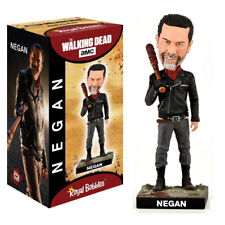"ROYAL BOBBLES WALKING DEAD NEGAN WITH LUCILLE 8"" BOBBLE HEAD FIGURE NEW IN BOX"