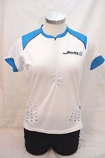 New Jett Women Raven Cycling Short Sleeve Bike Jersey Blue White Large Road MTB