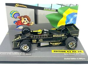 1:43 scale Minichamps Lotus 97T F1 Car Ayrton Senna 1985 Diecast Model F1 Car