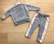 2pc Mauve Fluffy Sweatshirt /& Jogger Set RRP £10 TU Baby Girl 0-3 Months BNWT