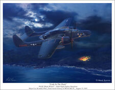 "P-61 Black Widow Aviation Art Print - 11"" x 14"""
