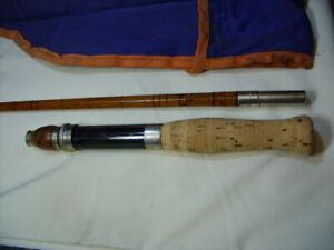 "Rare 1926 HEDDON No.12 ""Premier"" 5-1/4', 1-Piece Split Bamboo Casting Rod w/Case"