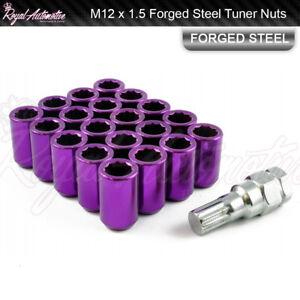 20 M12x1.5 Tuner Wheel Nuts Slim Internal Drive Honda Civic EG EK EP FN Purple