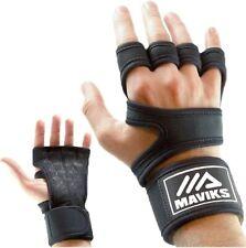 MAVIKS Gants de fitness Crossfit noirs pour hommes et femmes