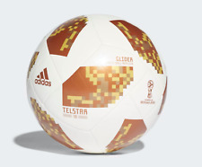 """""""NEW"""" Adidas White Cooper Gold 2018 FIFA World Cup Glider Soccer Ball"""