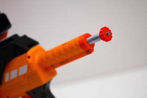 3D Printed Solid Spring Adjuster for Nerf AF Nexus Pro Dart Gun Blaster