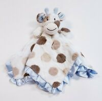 "Maison Chic Giraffe Print Security Blanket Plush Satin Edged Lovey 16.5"" x 16.5"""