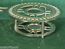 Stövchen Rechaud Teelichthalter Warmhalteplatte Silberfarbig Antik Stil