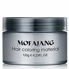 Silver Grey Hair Pomade Professional Hair Wax Natural Hairstyle Cream Wax Unisex