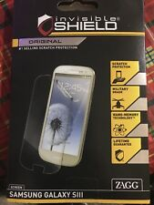 NEW Zagg Invisible Shield Original Screen Protector For Samsung Galaxy S III S3