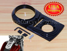 Dash Panel Insert Cover For Harley Softail Dyna FXDWG FXSTB 1993-2015 Black