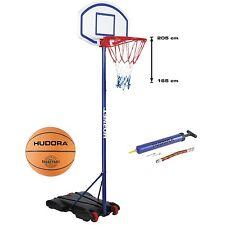 HUDORA Basketballständer Hornet höhenverstellbar 165 - 205 cm mit Ball und Pumpe
