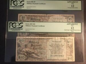 2 MPC SERIES 481 $5 AND $10  F-12 CIRCULATED