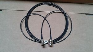 US MADE   BNC plug  TO  BNC   jack  RG-174  coax  cable  10  ft   (50 ohm)