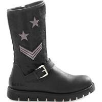 LELLI KELLY SARA LK 7458 NERO scarpe stivali stivaletti bambina pelle camoscio