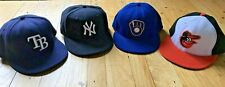 New Era Fitted MLB Hats size 7 1/8 (rays, yankees, brewers, orioles)