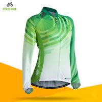 Pro Women's Cycling Jersey Top Long Sleeve Bike Bicycle Clothing Breathable S-XL