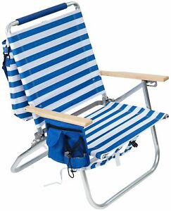 Rio Easy In Easy Out Striped Backpack Beach Chair One Size