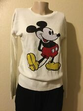 Disney MICKEY MOUSE Sweater Pullover WOMEN SIZE L