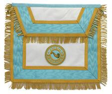 Masonic Regalia, Provincial Apron, Gold Wire Fringe,Lambskin Leather LI-MRA-0007