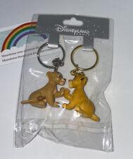 Porte Clé Keychain Simba Roi Lion Duo DISNEYLAND PARIS neuf Disney The Lion King