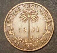 British West Africa 1 shilling 1951 Rare