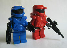 Lego Custom HALO MASTER CHIEF Spartan Minifigures -RED vs BLUE- Brickarms Guns