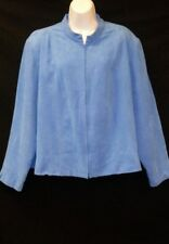 Women's Beautiful Blue Zip Up Jacket by Dress Barn, Size 20W, Soft Like Suede!!