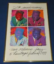 New Orleans 1989 Jazz Festival 20 Anniv, Fats Domino, LE Pro Creations, 23 x 33