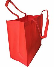 Set of 24- EXTRA LARGE SIZE RED COLOR CARRY SHOPPING REUSABLE NON WOVEN TOTE BAG